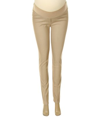 Khaki Under-Belly Maternity Pants - Women