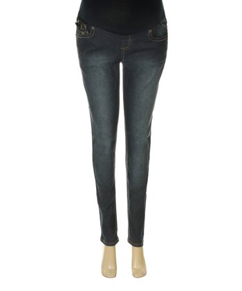 Indigo Over-Belly Maternity Jeans - Women