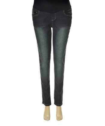 Denim Over-Belly Maternity Jeans