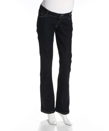 Ink Zip Fly Maverick Maternity Jeans