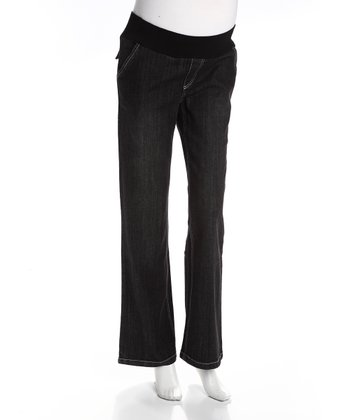Black Relaxed Fit Maternity Jeans
