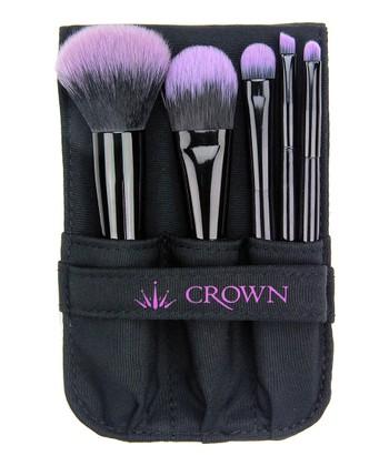 Purple Five-Piece Brush Set