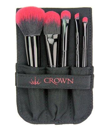 Pink Five-Piece Brush Set