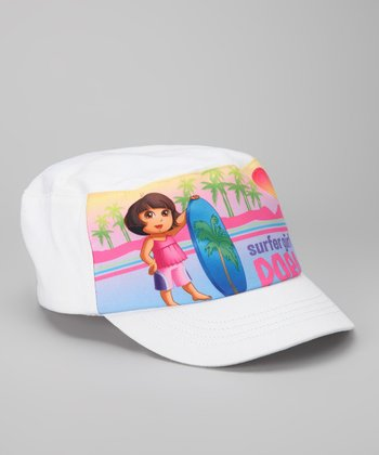 White Dora 'Surfer Girl' Cadet Cap