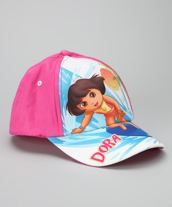 Hot Pink Surfing 'Dora' Baseball Cap