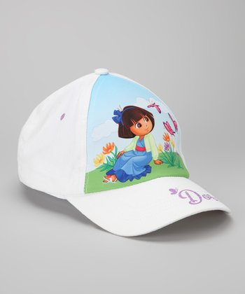 White Butterfly Dora Baseball Cap