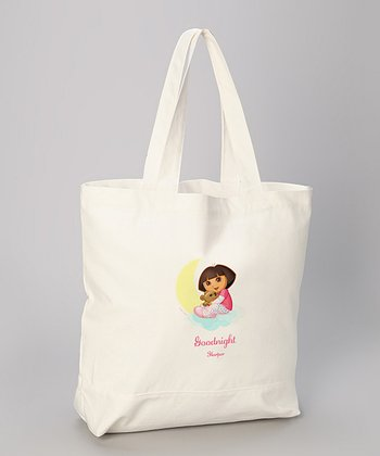 'Goodnight' Dora Personalized Tote