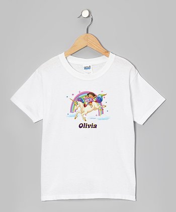 Dora & Her Unicorn Personalized Tee - Toddler & Kids