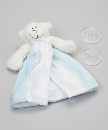 Blue Lamb Pacifier Blanket Set