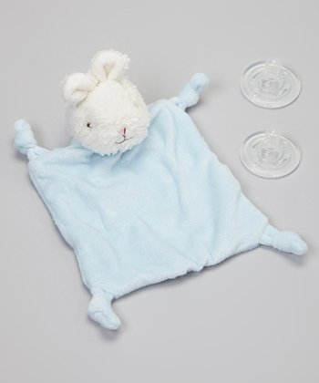 Blue Bunny Pacifier Blanket Set