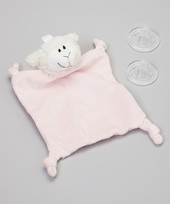 Pink Lamb Pacifier Blanket Set