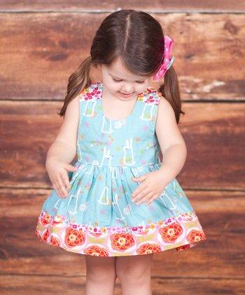 Blue Bunny Hop Nature Dress - Infant