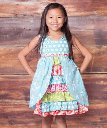 Blue Bunny Hop Hannah Dress - Infant, Toddler & Girls