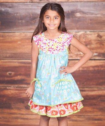 Blue Bunny Hop Sailor Dress - Infant, Toddler & Girls
