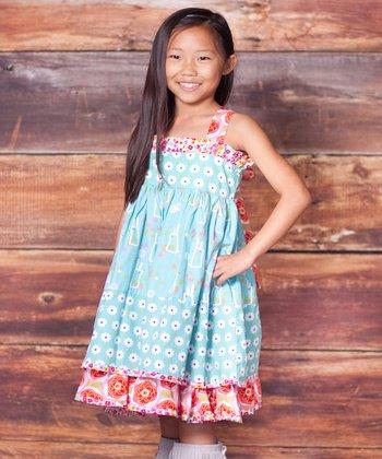 Blue Bunny Hop Sassy Dress - Infant, Toddler & Girls
