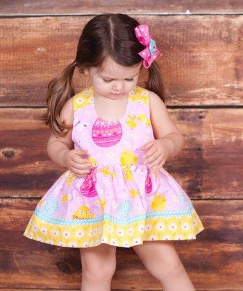 Pink & Yellow Psanka Nature Dress - Infant