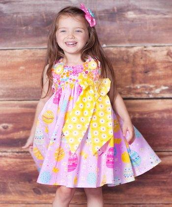 Pink Psanka Puffy Dress - Infant, Toddler & Girls