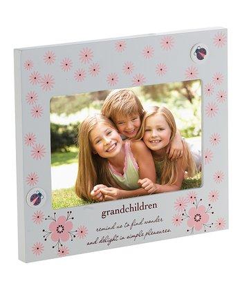 Cupecoy Design Beige & Pink Floral 'Grandkids' Frame