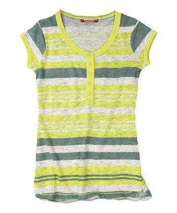 Bitter Lemon Province Stripe Henley - Girls