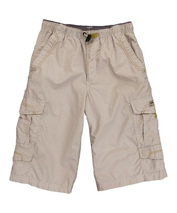 Khaki Brooks Cargo Shorts - Toddler & Boys