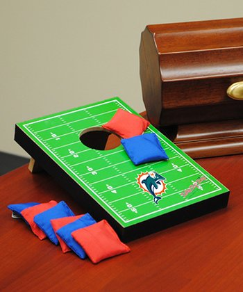 Miami Dolphins Tabletop Toss Football Field Set