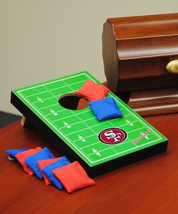 San Francisco 49ers Tabletop Toss Football Field Set