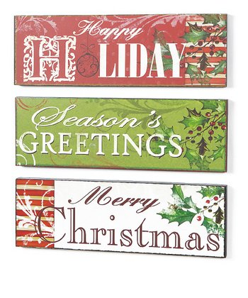 Holiday Sign Set