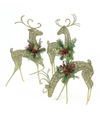 Green Reindeer Set