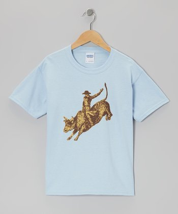 Blue Bull Rider Tee - Toddler & Kids