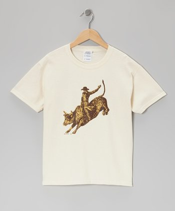 Natural Bull Rider Tee - Toddler & Kids