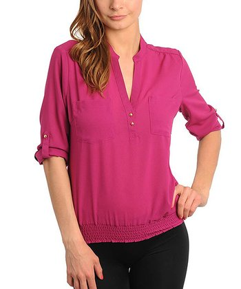 Berry V-Neck Top