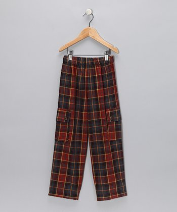 Brick Plaid Cargo Pants - Toddler & Boys