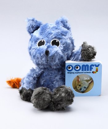 Blue Baby Jackal Plush Toy & Board Book