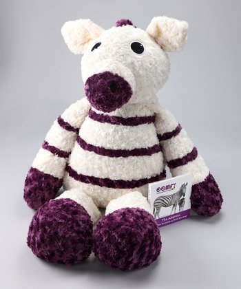 Purple & White Zeta the Zebra Jumbo Plush Toy