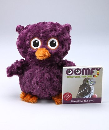 Purple Kingston the Owl Plush Toy & Board Book
