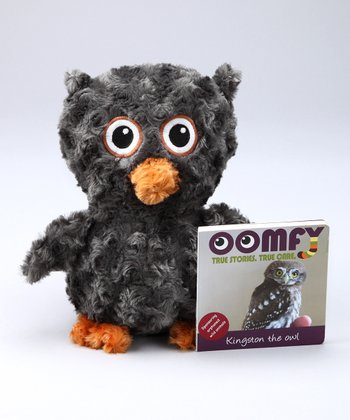 Gray Kingston the Owl Plush Toy & Board Book