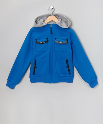 Cobalt Soft-Shell Hooded Jacket - Toddler & Boys