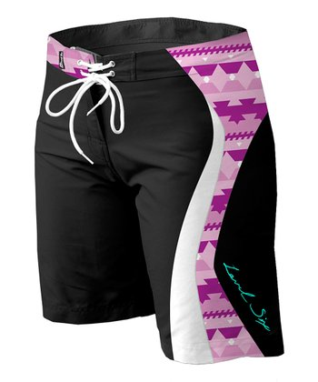 Level Six Black & Violet Zoe Boardshorts - Women