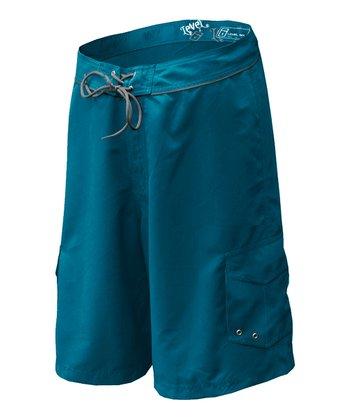Level Six Coastline Blue & New Orange Jack Boardshorts - Boys