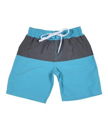 Lagaci Neon Blue Boardshorts - Men