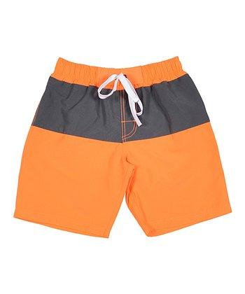 Lagaci Neon Orange Boardshorts - Men