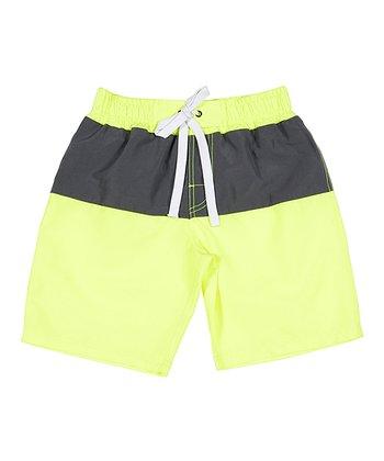 Lagaci Neon Yellow Boardshorts - Men