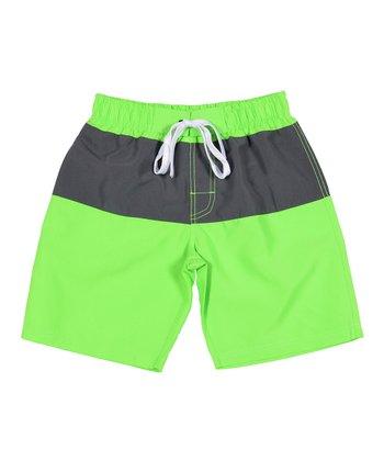 Lagaci Neon Green Boardshorts - Men