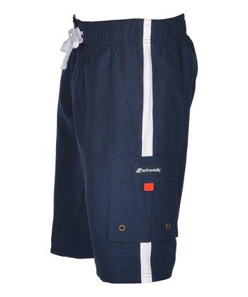 Lagaci Navy Boardshorts - Men