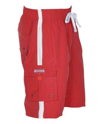 Lagaci Red Boardshorts - Men