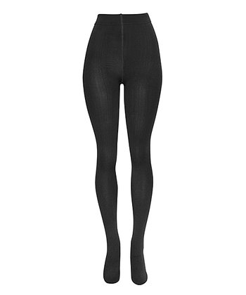 Black Fleece-Lined Tights