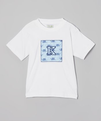 White Whale Initial Tee - Infant, Toddler & Boys