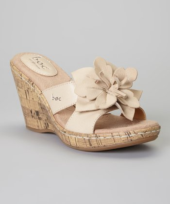Pearly Fortune Wedge Leather Sandal