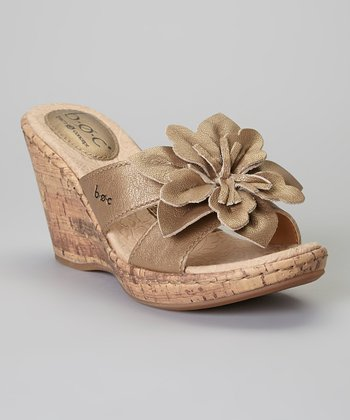 Sunbronze Fortune Wedge Leather Sandal