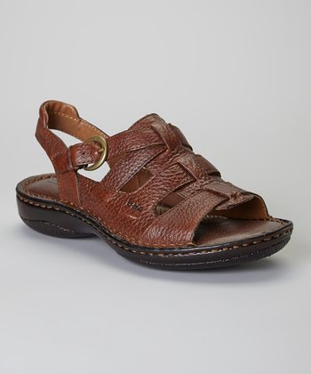 French Roast Leigh Leather Sandal